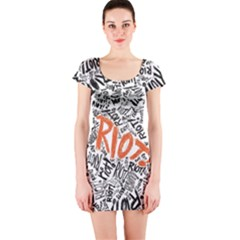 Paramore Is An American Rock Band Short Sleeve Bodycon Dress