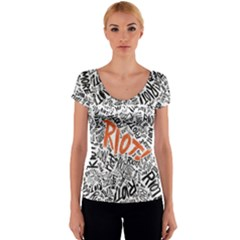 Paramore Is An American Rock Band Women s V-Neck Cap Sleeve Top