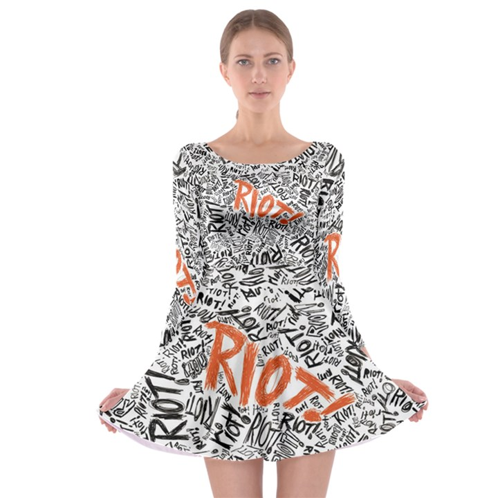 Paramore Is An American Rock Band Long Sleeve Skater Dress