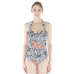 Paramore Is An American Rock Band Halter Swimsuit