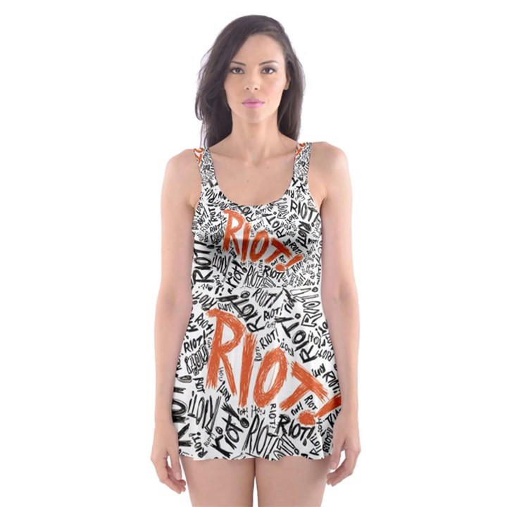 Paramore Is An American Rock Band Skater Dress Swimsuit