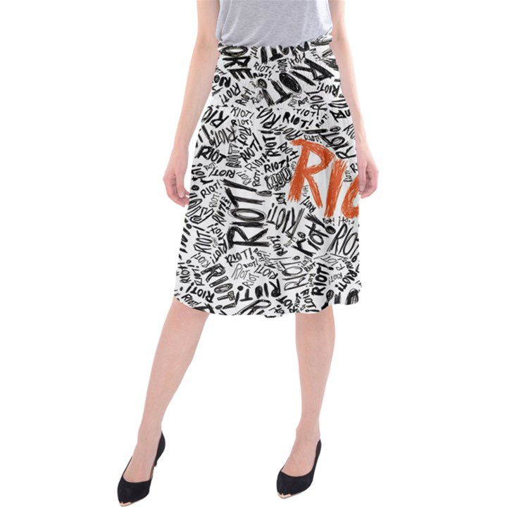 Paramore Is An American Rock Band Midi Beach Skirt