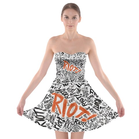 Paramore Is An American Rock Band Strapless Bra Top Dress