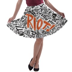 Paramore Is An American Rock Band A Line Skater Skirt