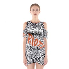 Paramore Is An American Rock Band Cutout Shoulder Dress