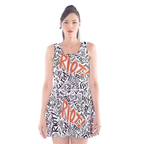 Paramore Is An American Rock Band Scoop Neck Skater Dress