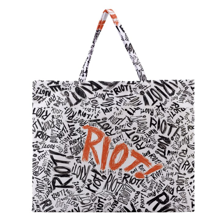Paramore Is An American Rock Band Zipper Large Tote Bag
