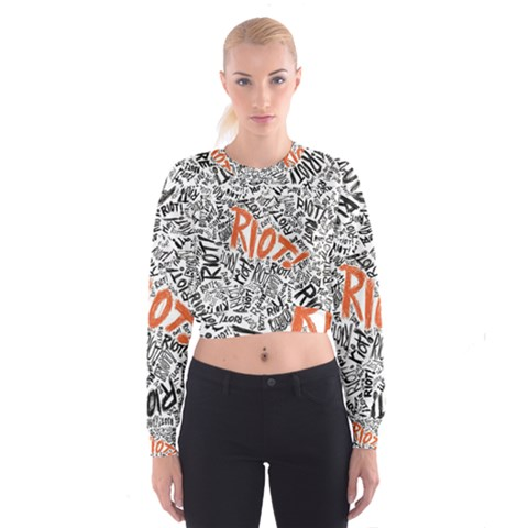 Paramore Is An American Rock Band Women s Cropped Sweatshirt