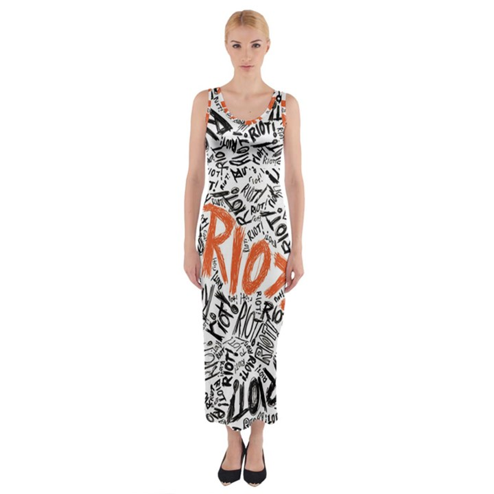 Paramore Is An American Rock Band Fitted Maxi Dress
