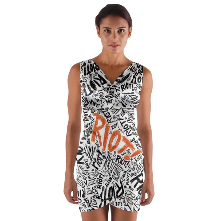 Paramore Is An American Rock Band Wrap Front Bodycon Dress