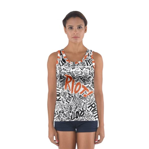 Paramore Is An American Rock Band Women s Sport Tank Top