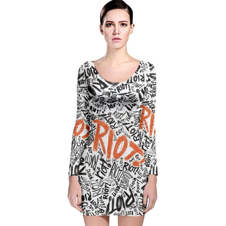Paramore Is An American Rock Band Long Sleeve Velvet Bodycon Dress