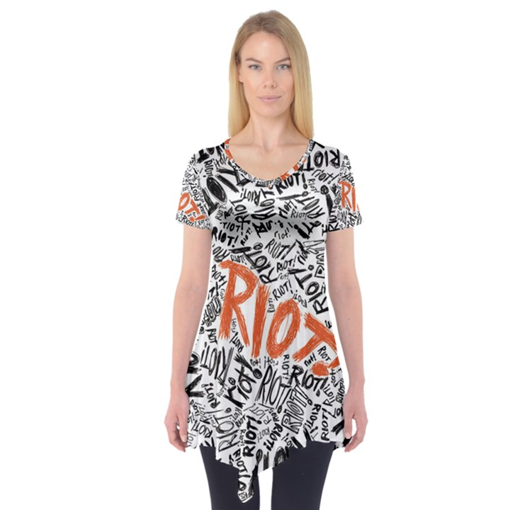 Paramore Is An American Rock Band Short Sleeve Tunic