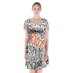 Paramore Is An American Rock Band Short Sleeve V Neck Flare Dress