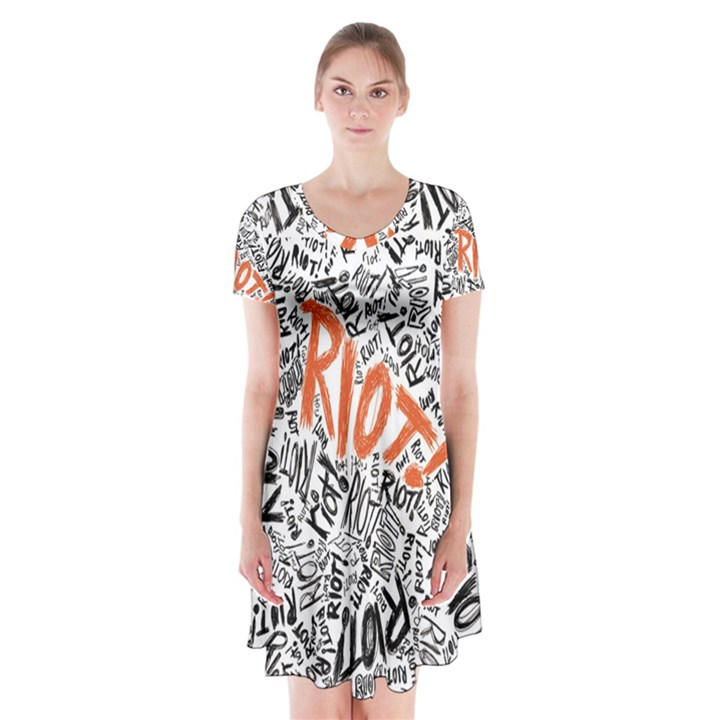 Paramore Is An American Rock Band Short Sleeve V-neck Flare Dress
