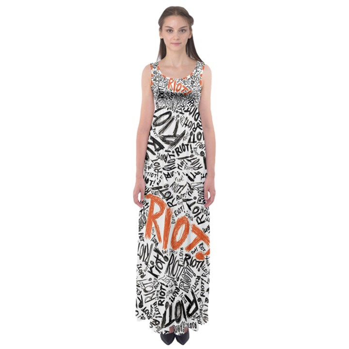 Paramore Is An American Rock Band Empire Waist Maxi Dress