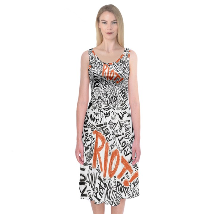 Paramore Is An American Rock Band Midi Sleeveless Dress
