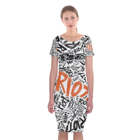 Paramore Is An American Rock Band Classic Short Sleeve Midi Dress