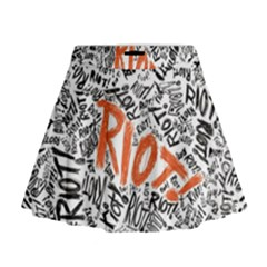 Paramore Is An American Rock Band Mini Flare Skirt