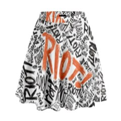 Paramore Is An American Rock Band High Waist Skirt