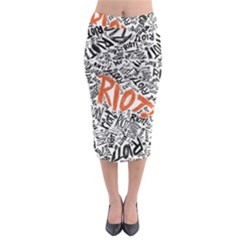 Paramore Is An American Rock Band Midi Pencil Skirt
