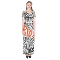Paramore Is An American Rock Band Short Sleeve Maxi Dress