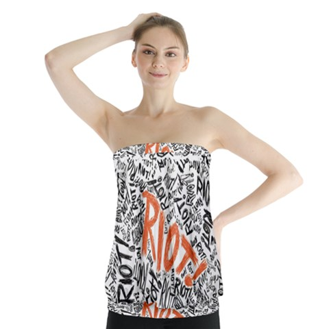 Paramore Is An American Rock Band Strapless Top