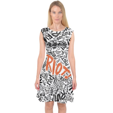 Paramore Is An American Rock Band Capsleeve Midi Dress