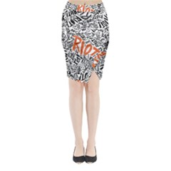 Paramore Is An American Rock Band Midi Wrap Pencil Skirt