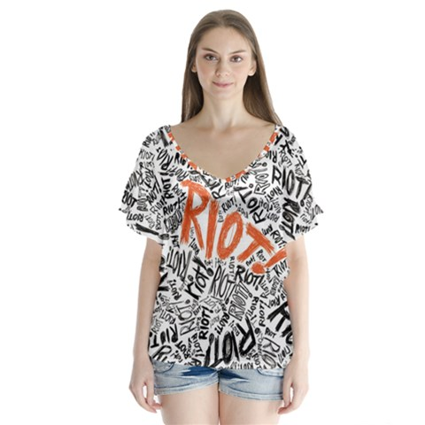 Paramore Is An American Rock Band Flutter Sleeve Top