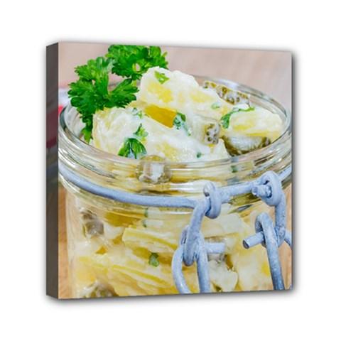 1 Kartoffelsalat Einmachglas 2 Mini Canvas 6  x 6