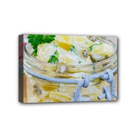 1 Kartoffelsalat Einmachglas 2 Mini Canvas 6  X 4
