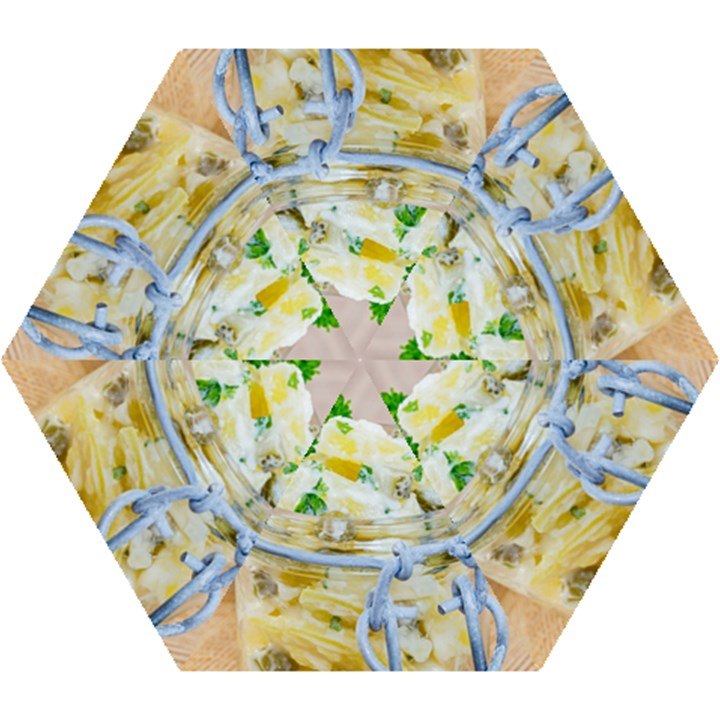 1 Kartoffelsalat Einmachglas 2 Mini Folding Umbrellas
