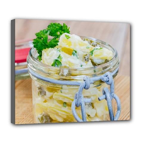 1 Kartoffelsalat Einmachglas 2 Deluxe Canvas 24  x 20