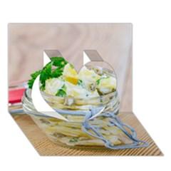 1 Kartoffelsalat Einmachglas 2 Heart 3D Greeting Card (7x5)
