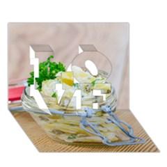 1 Kartoffelsalat Einmachglas 2 LOVE 3D Greeting Card (7x5)