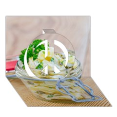 1 Kartoffelsalat Einmachglas 2 Peace Sign 3D Greeting Card (7x5)
