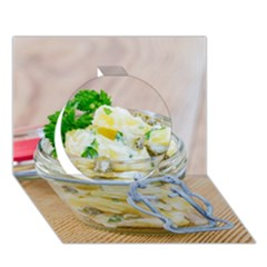 1 Kartoffelsalat Einmachglas 2 Circle 3d Greeting Card (7x5)