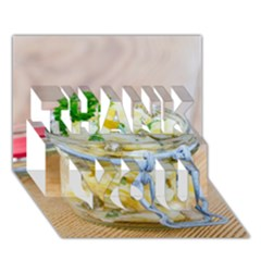 1 Kartoffelsalat Einmachglas 2 THANK YOU 3D Greeting Card (7x5)