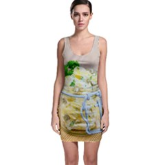 1 Kartoffelsalat Einmachglas 2 Sleeveless Bodycon Dress