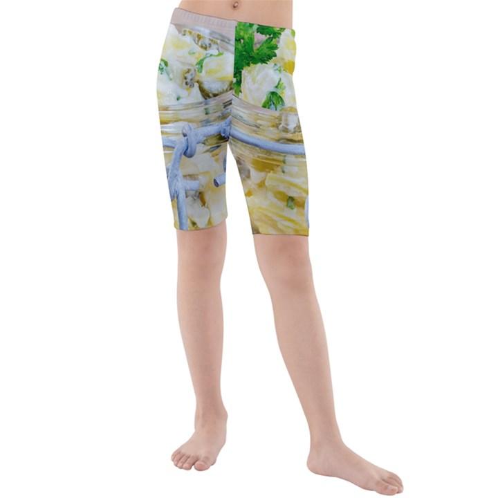 1 Kartoffelsalat Einmachglas 2 Kids  Mid Length Swim Shorts