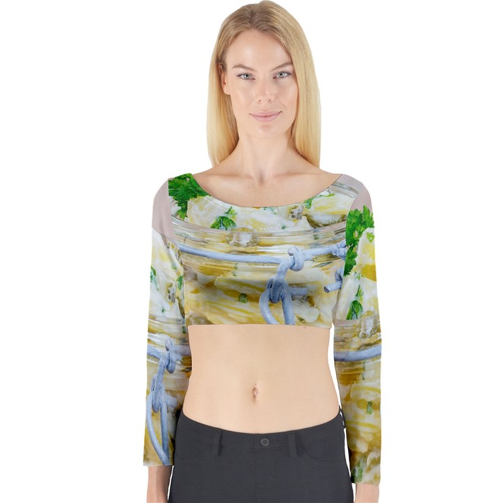 1 Kartoffelsalat Einmachglas 2 Long Sleeve Crop Top