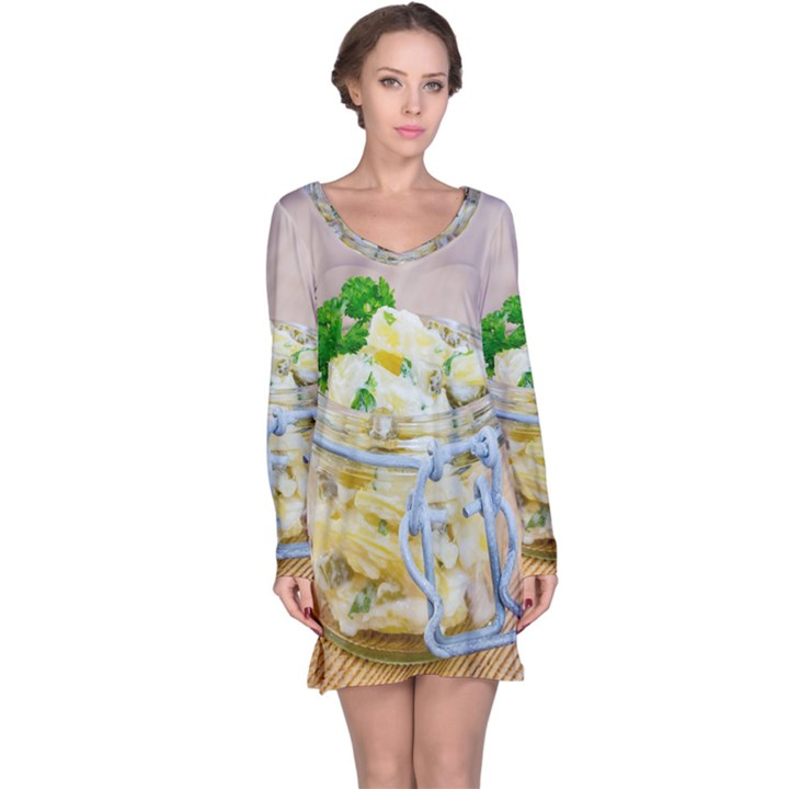 1 Kartoffelsalat Einmachglas 2 Long Sleeve Nightdress