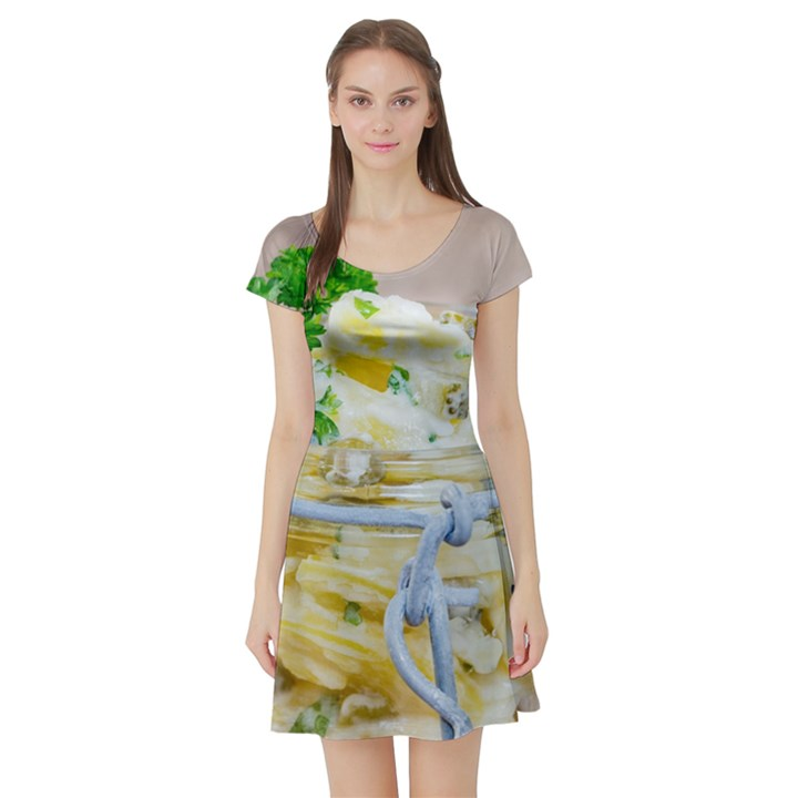 1 Kartoffelsalat Einmachglas 2 Short Sleeve Skater Dress
