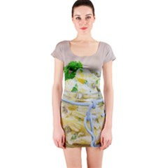 1 Kartoffelsalat Einmachglas 2 Short Sleeve Bodycon Dress