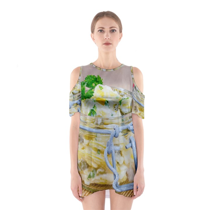 1 Kartoffelsalat Einmachglas 2 Cutout Shoulder Dress