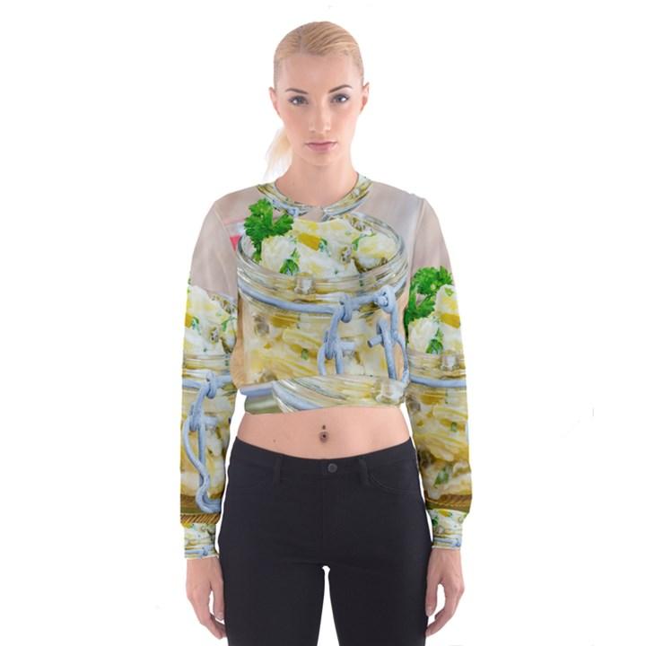 1 Kartoffelsalat Einmachglas 2 Women s Cropped Sweatshirt