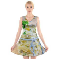 1 Kartoffelsalat Einmachglas 2 V Neck Sleeveless Skater Dress