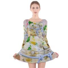 1 Kartoffelsalat Einmachglas 2 Long Sleeve Velvet Skater Dress