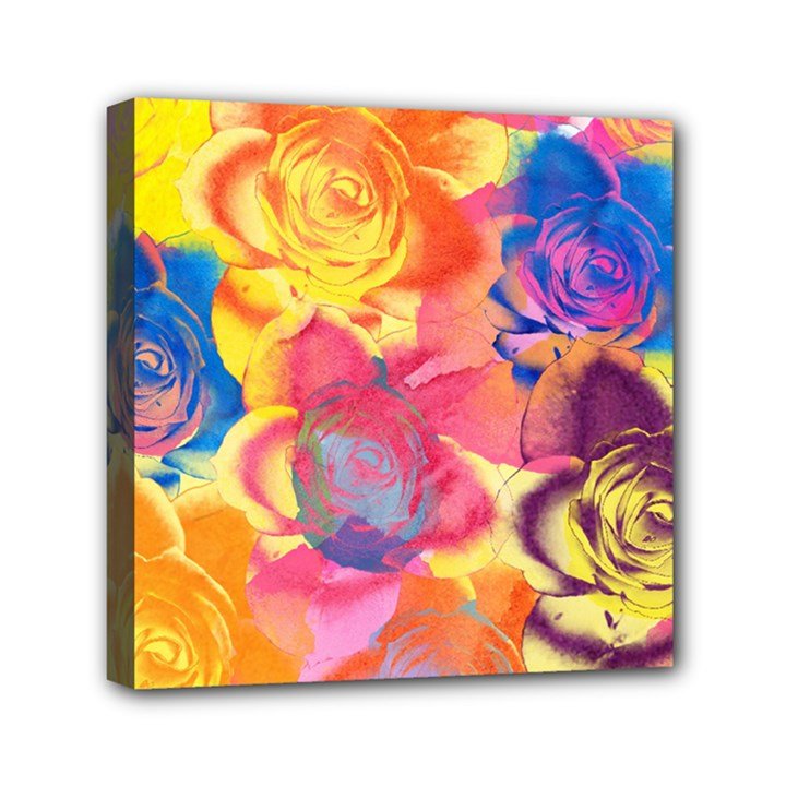 Pop Art Roses Mini Canvas 6  x 6